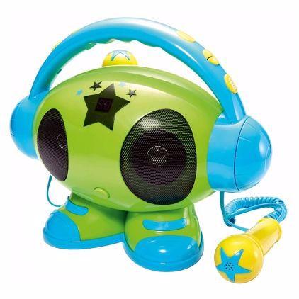 BigBen MP3 karaoke speler ROBOT01 (Groen/Blauw)
