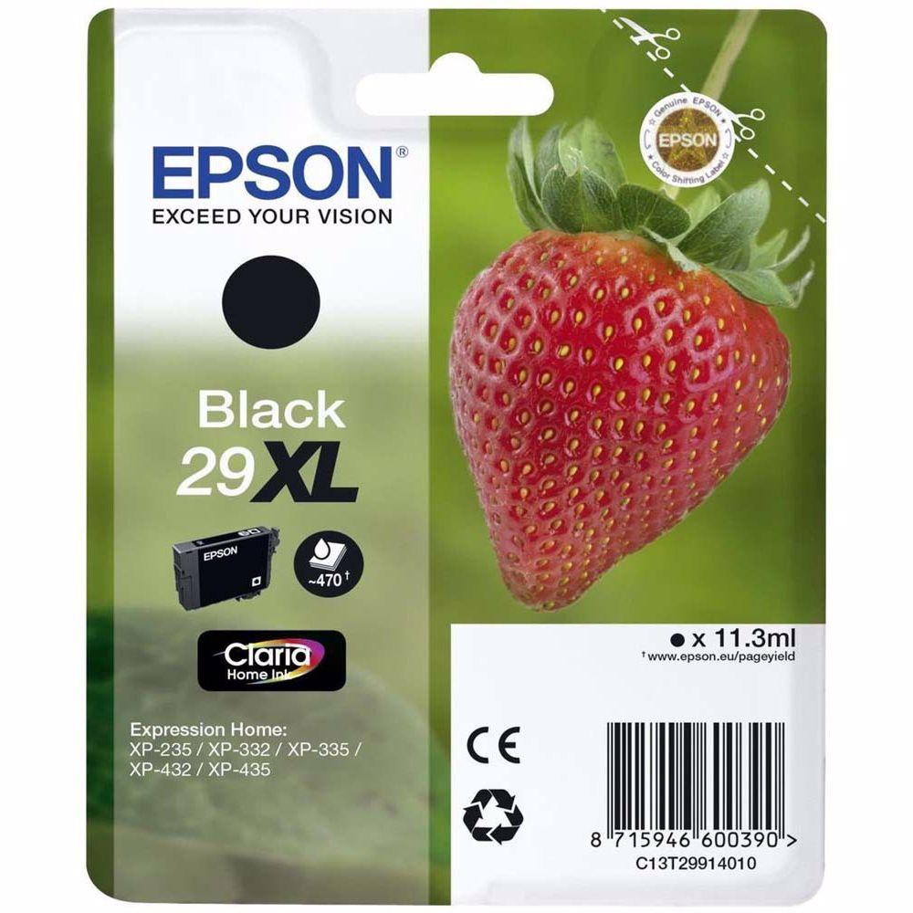 Epson cartridge AARDBEI ZWART XL T2991