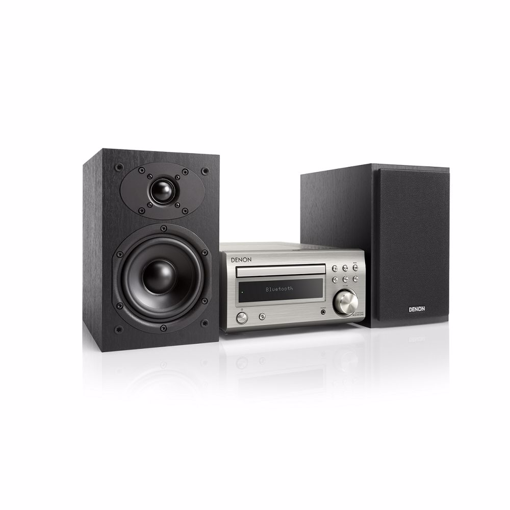 Denon microset D-M41 DAB+ (Zilver/Zwarte speakers)