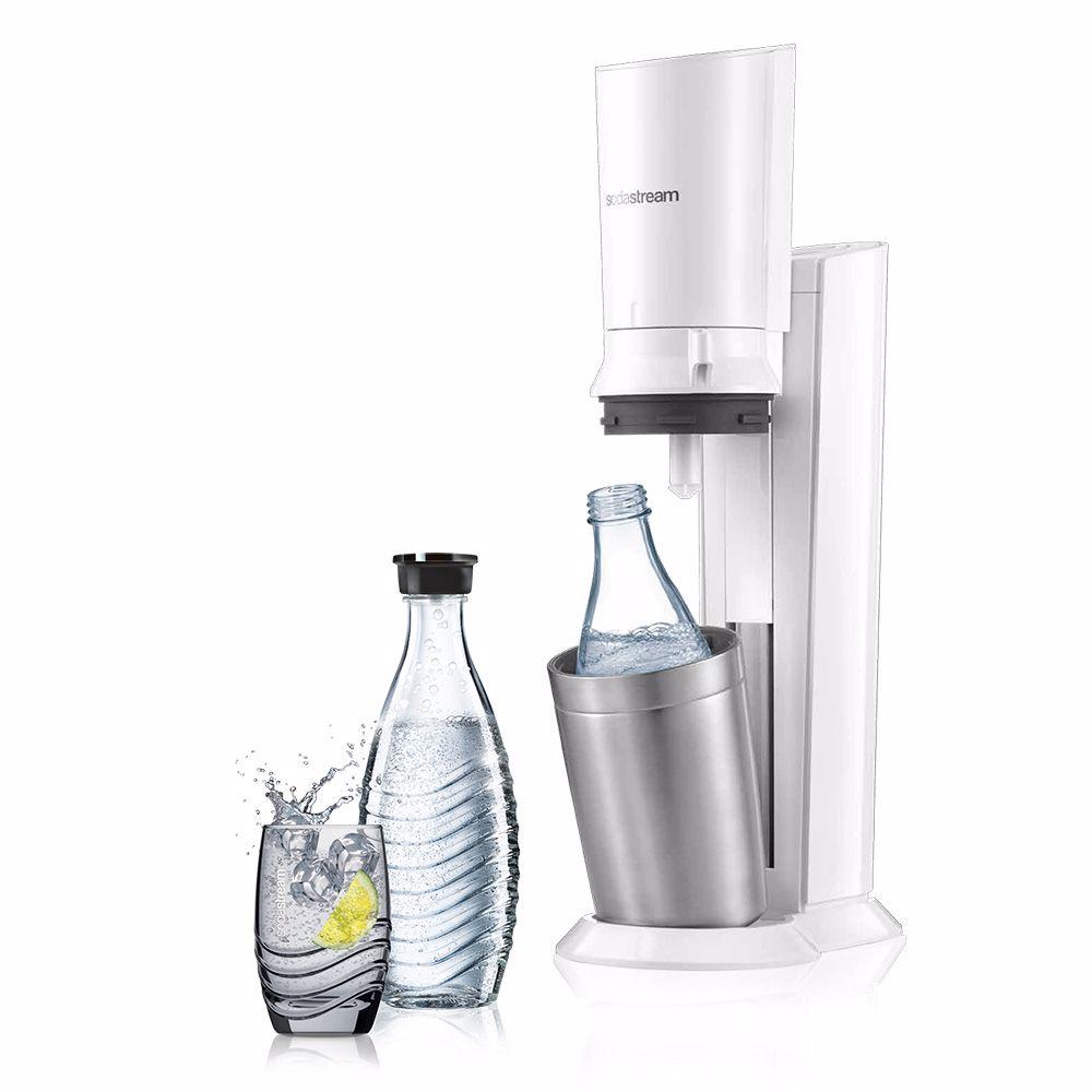 SodaStream soda maker + 2 karaffen Crystal (Wit)