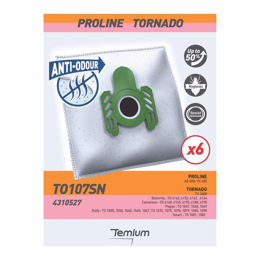 Temium stofzuigerzakken TO107SN X6