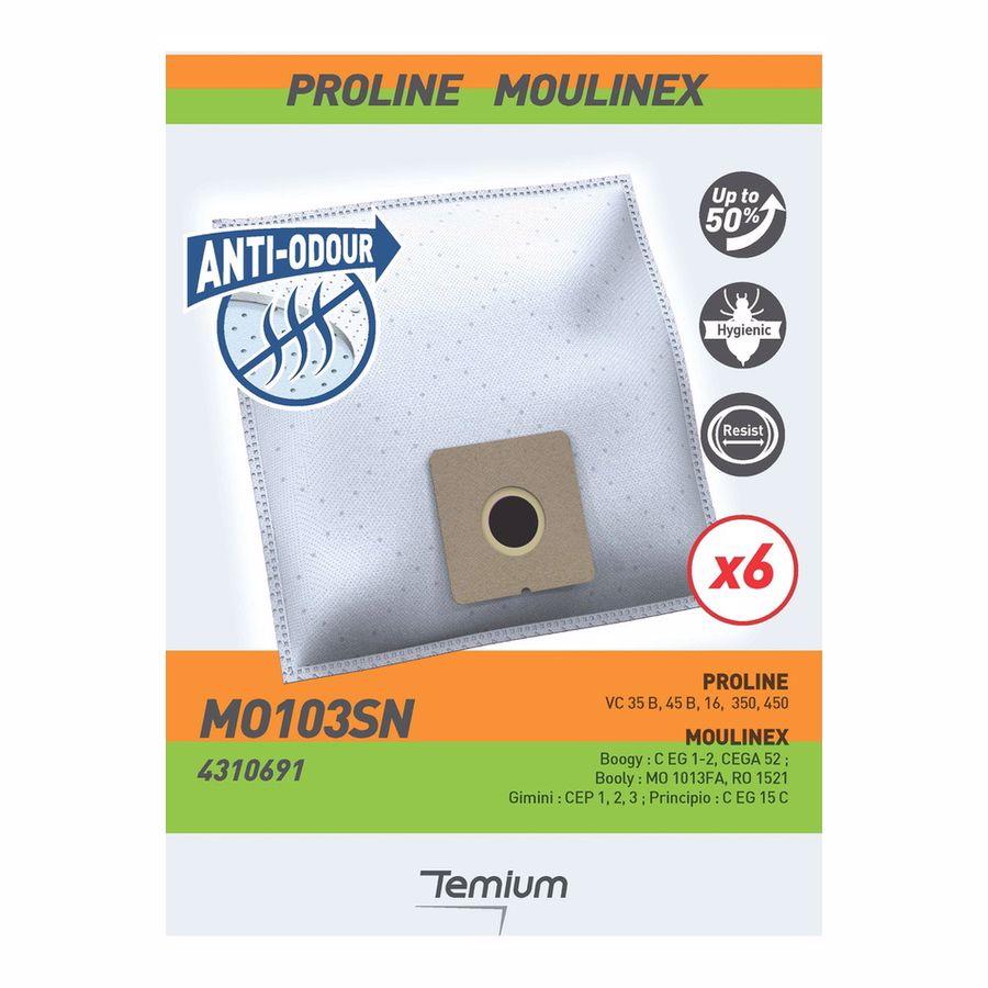 Temium stofzuigerzakken MO103SN X6
