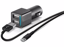 Temium auto-oplader USB met lightning kabel