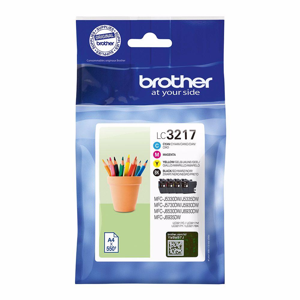 Brother cartridge LC3217 MULTI BCMY voordeelverpakking