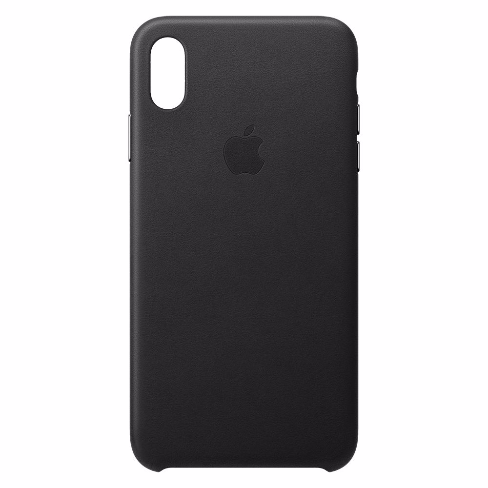 Apple telefoonhoesje iPhone XS Max Leather Case Black
