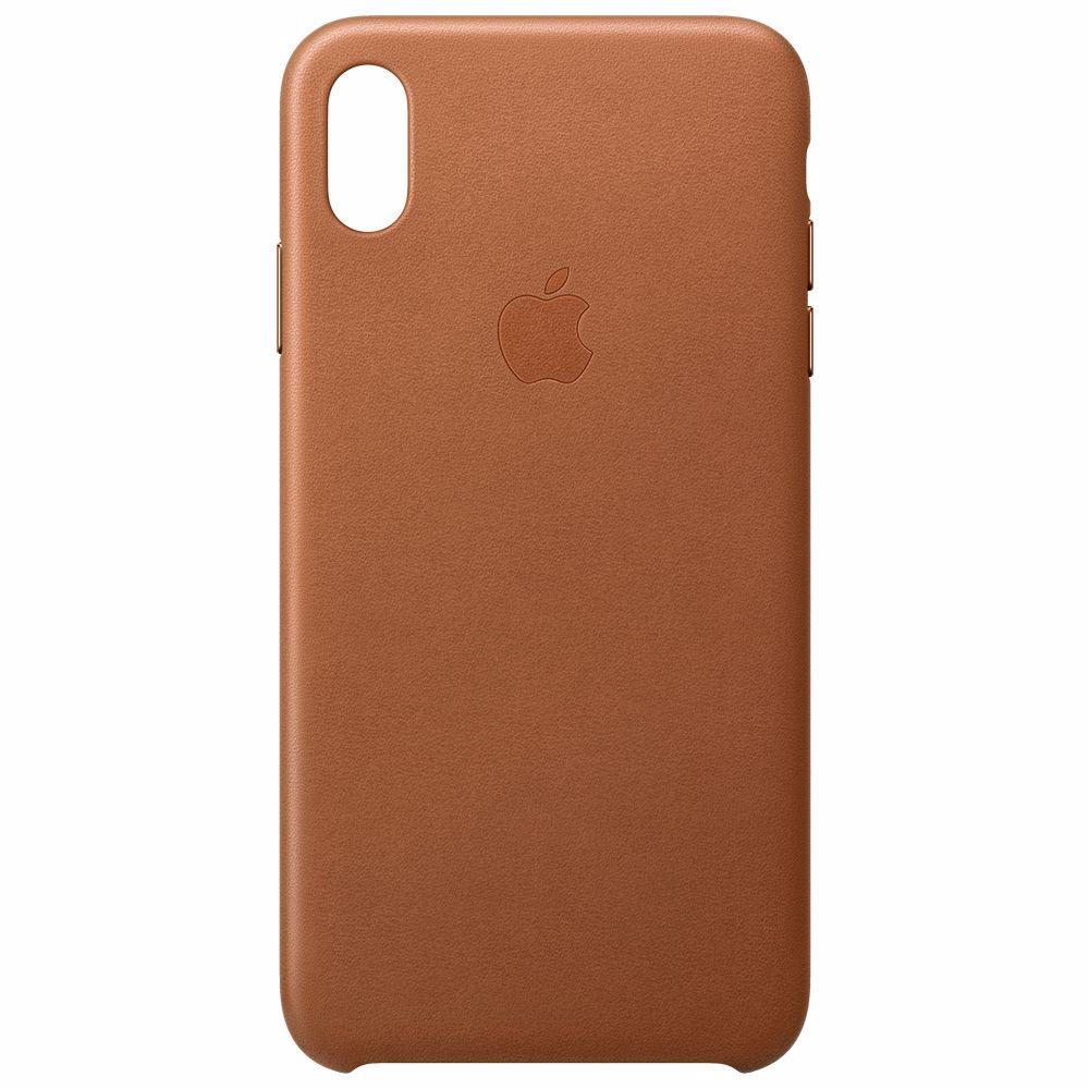 Apple telefoonhoesje iPhone XS Max Leather Case Saddle Brown