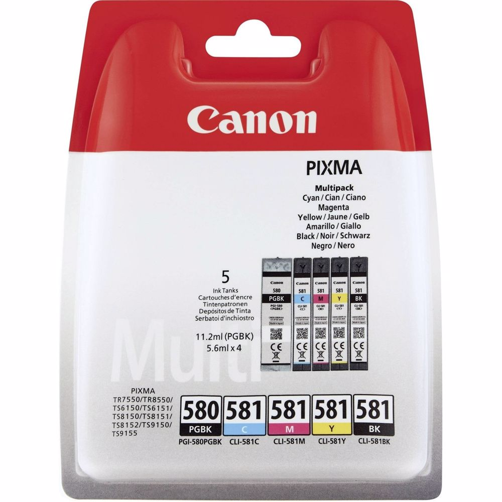 Canon cartridge voordeelpak PGI-580/CLI-581