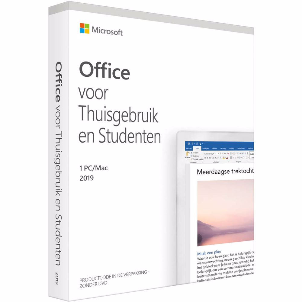 Microsoft Office 2019 Thuisgebruik en Studenten Download-versie