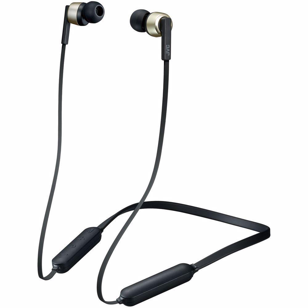 JVC draadloze hoofdtelefoon HA-FX65BN (Goud)