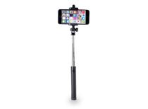 Azuri uitschuifbare selfiestick met geïntegreerde knop (Zwart)
