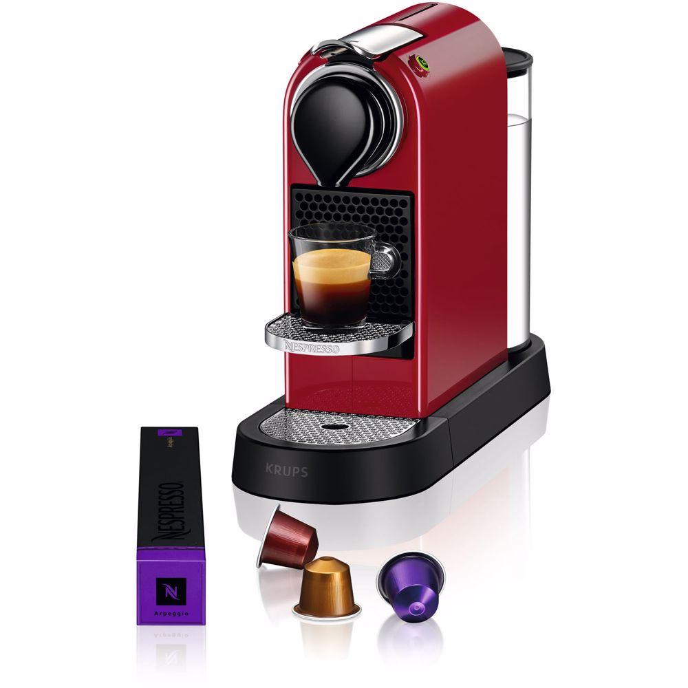 Nespresso Krups koffieapparaat CitiZ XN7415 (Rood)