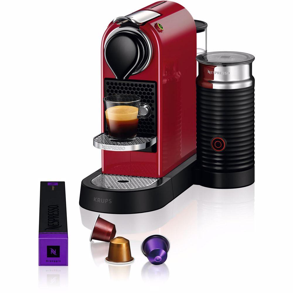 Nespresso Krups koffieapparaat CitiZ & Milk XN7615 (Rood)
