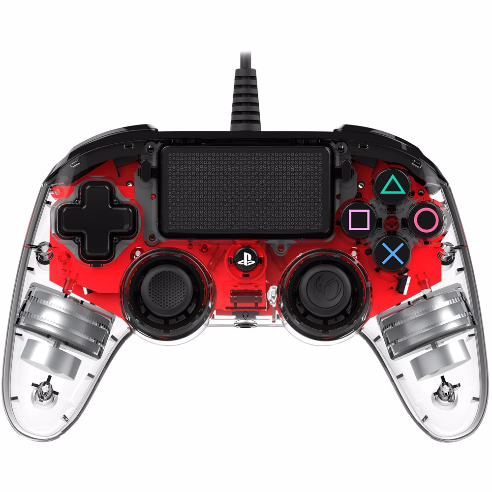 Nacon Bedrade Controller PS4 (Transparant Rood)
