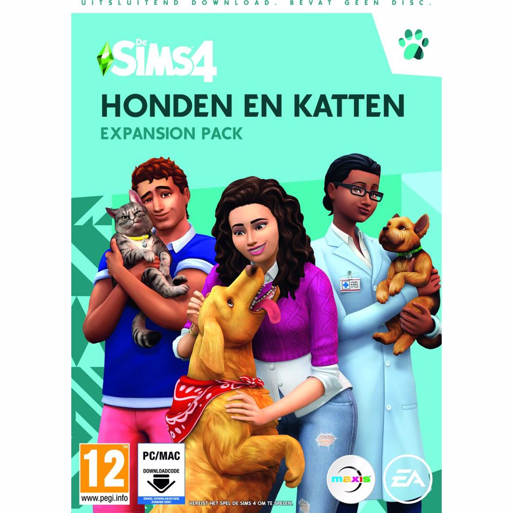 De Sims 4 Honden en Katten PC (Expansion Pack) Download code