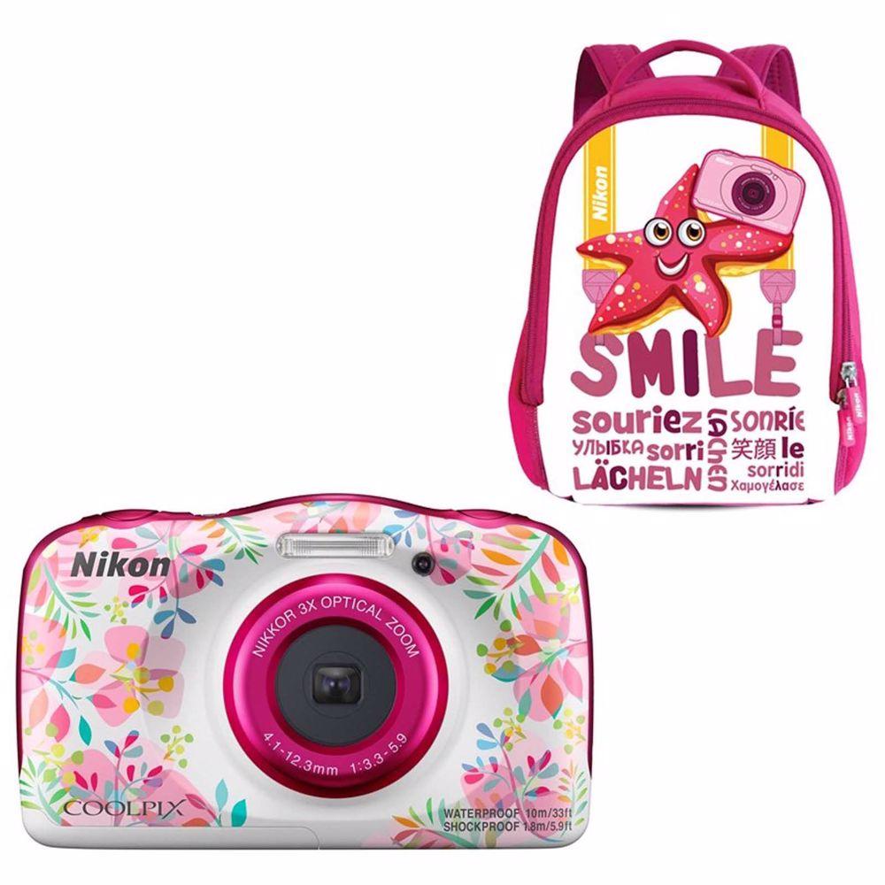 Nikon compact camera COOLPIX W150 FLOWER Rugzak kit