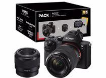 Sony systeemcamera a7 II + 50mm f1.8 lens en 28-70mm zoomlens