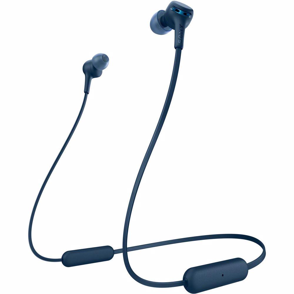Sony draadloze hoofdtelefoon WI-XB400 (Blauw)