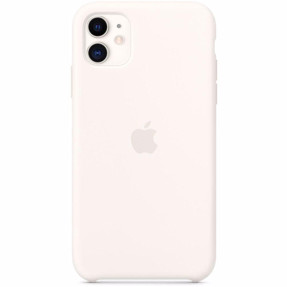 Apple siliconen telefoonhoesje iPhone 11 (Wit)
