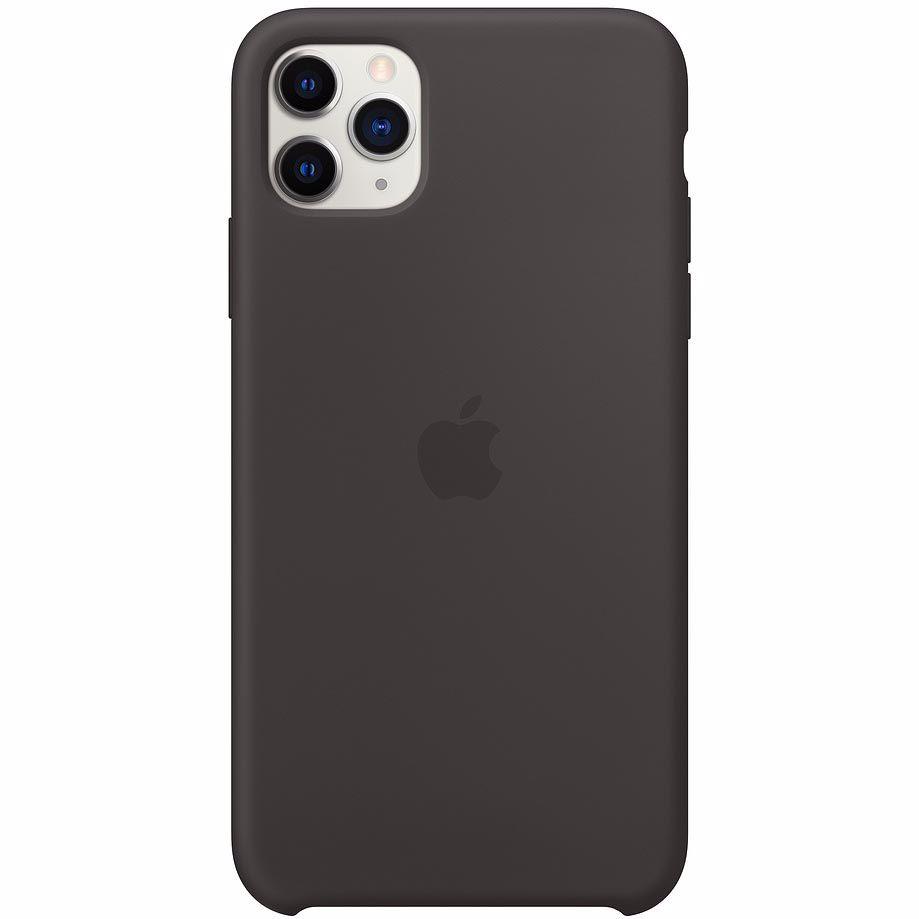 Apple siliconen telefoonhoesje iPhone 11 Pro Max (Zwart)