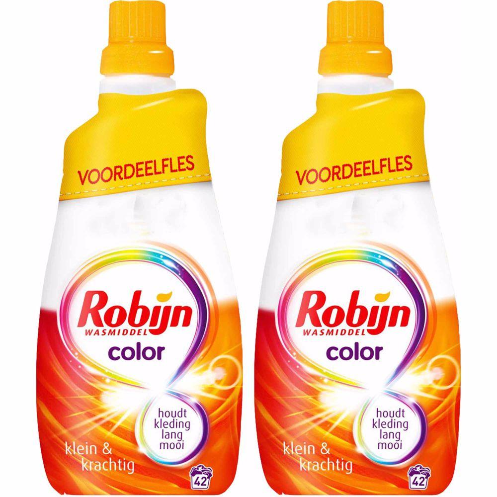 Robijn Klein & Krachtig Color Wasmiddel - Duoverpakking