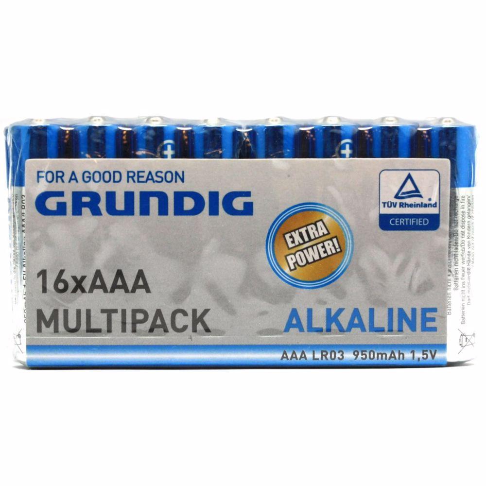Grundig 16 pack AAA batterijen