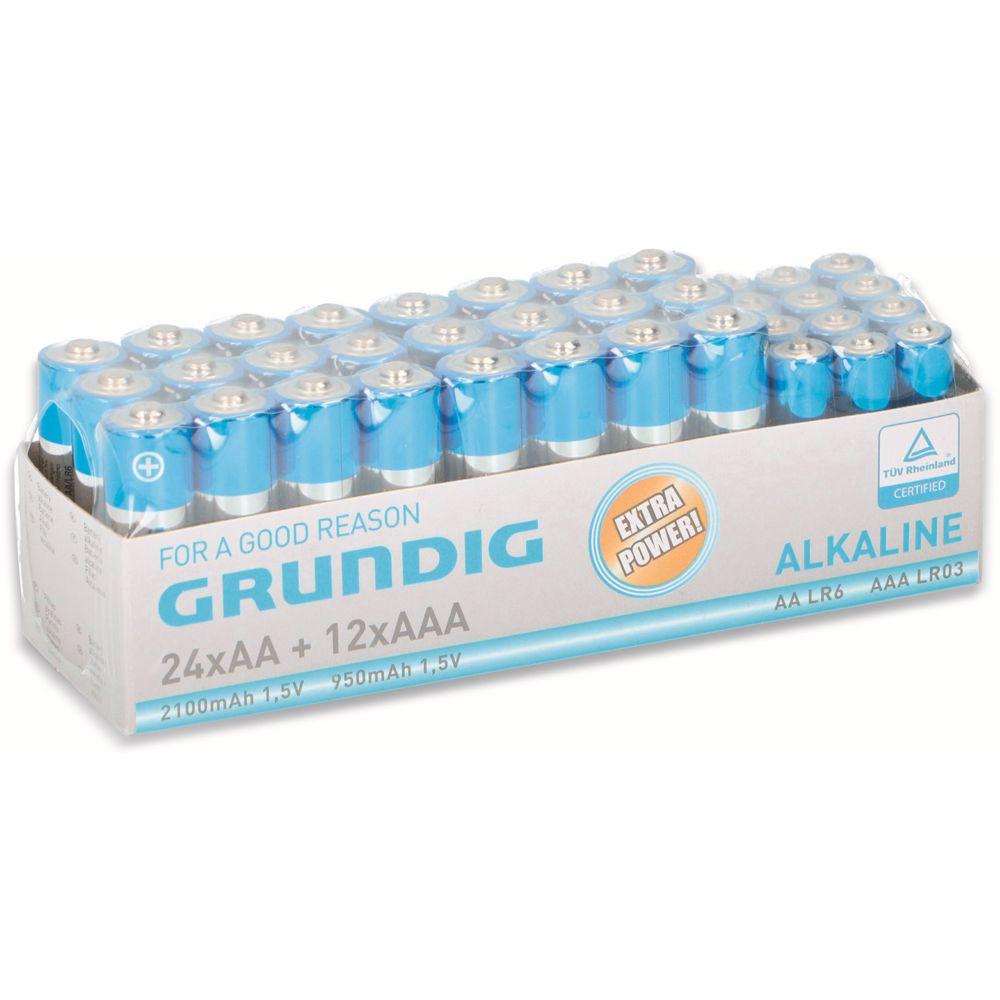 Grundig batterijen pack 24x AA 12x AAA