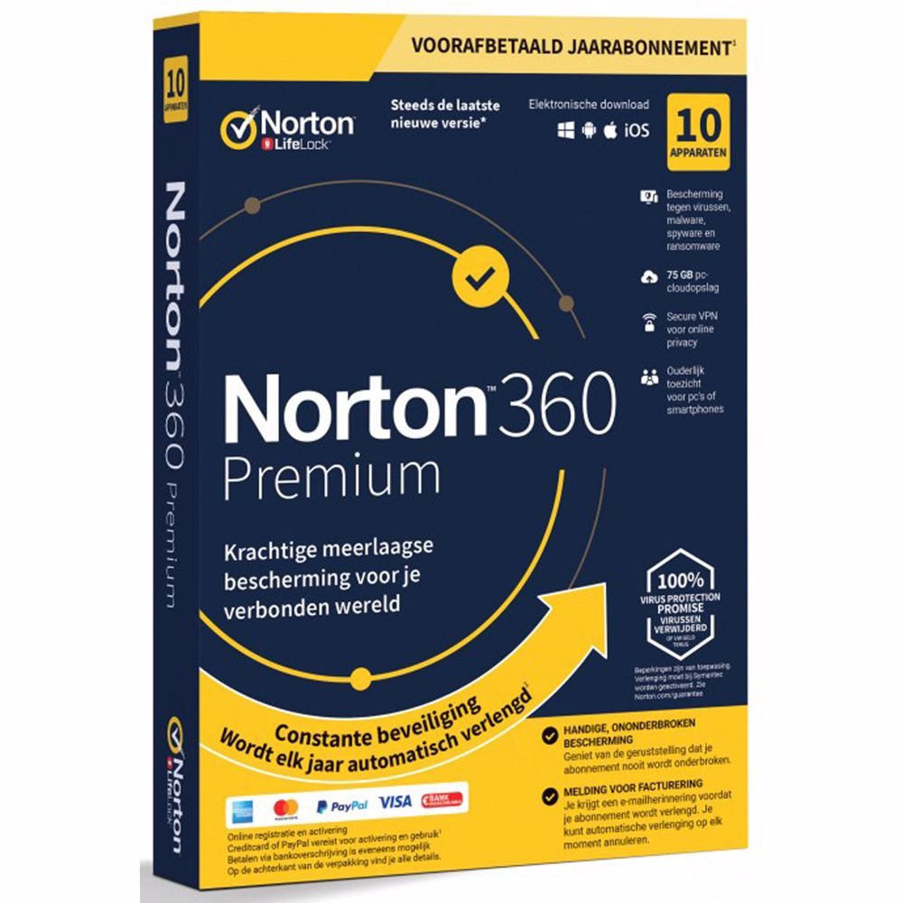 Norton 360 Premium (10U/1Y) Download-versie