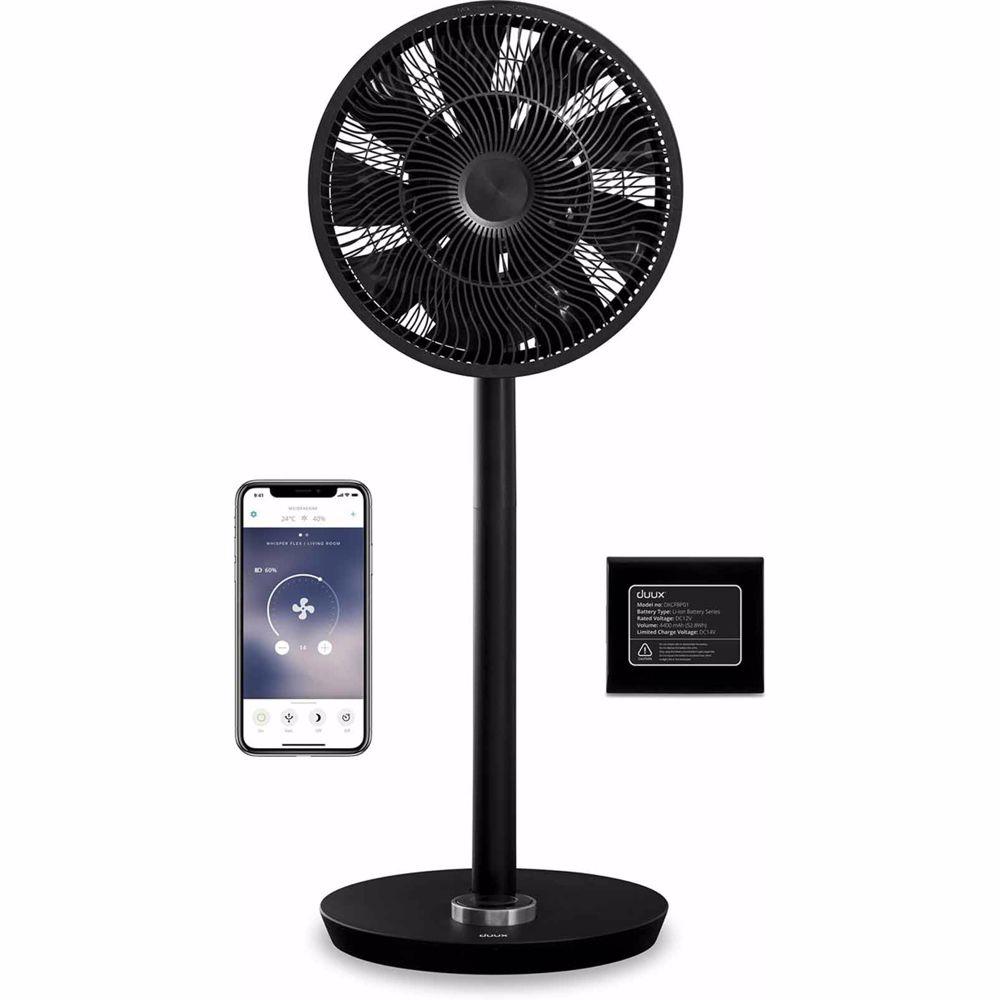 Duux ventilator Whisper Flex Smart inclusief batterij (Zwart)