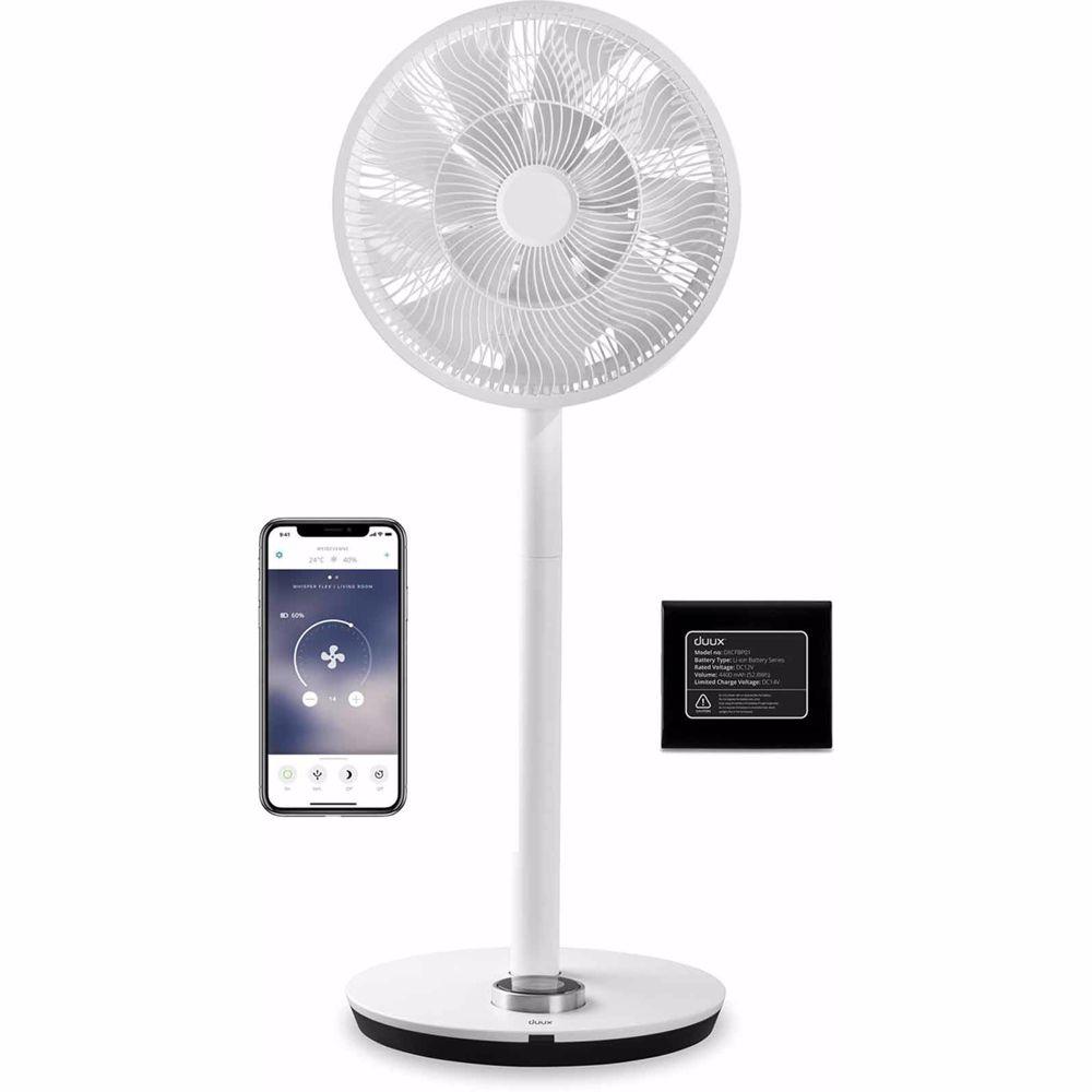 Duux ventilator Whisper Flex Smart inclusief batterij (Wit)