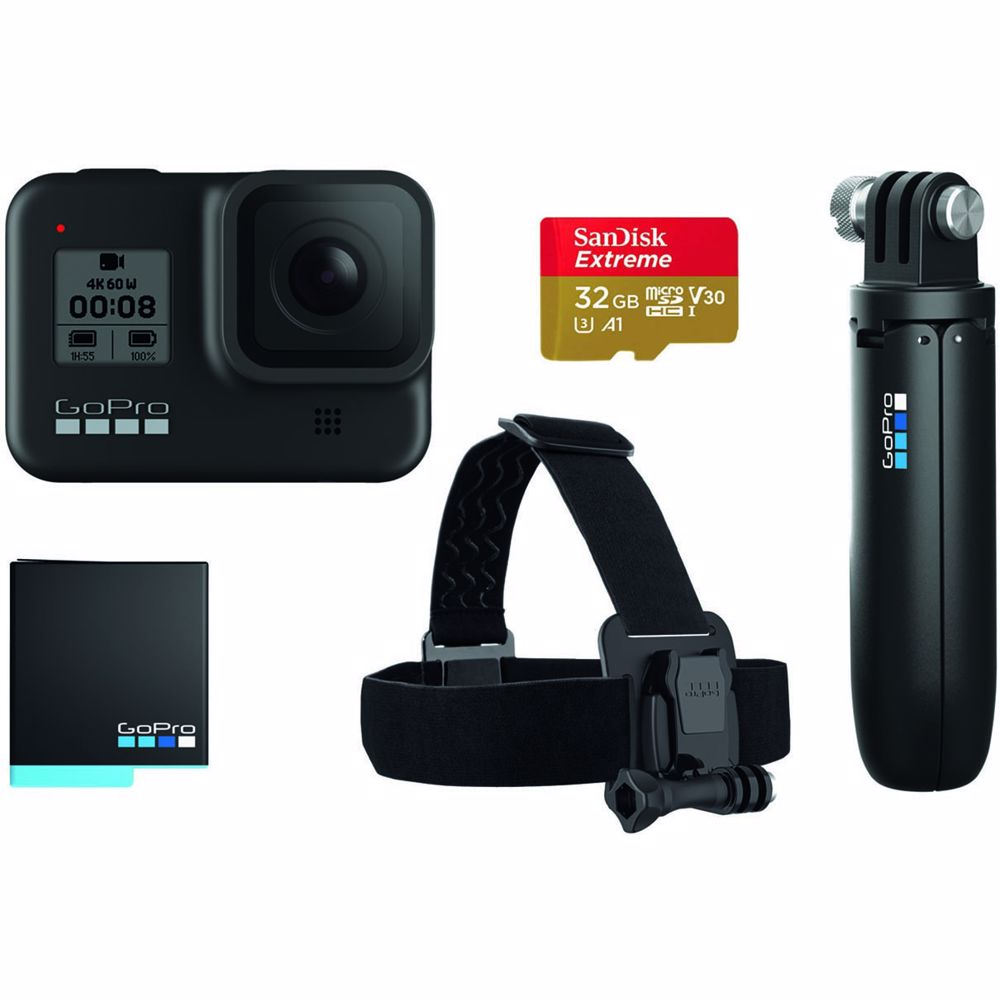 GoPro actioncam Hero8 Bundel 2019 (Zwart)