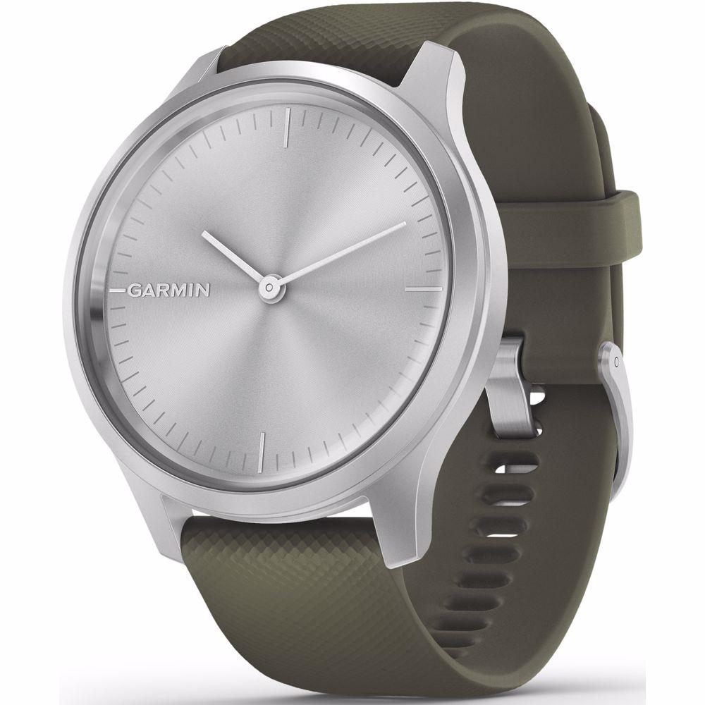 Garmin smartwatch Vivomove Style (Zilver) Band (Groen)