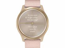 Garmin smartwatch Vivomove Style (Rosegoud) Band (Roze)