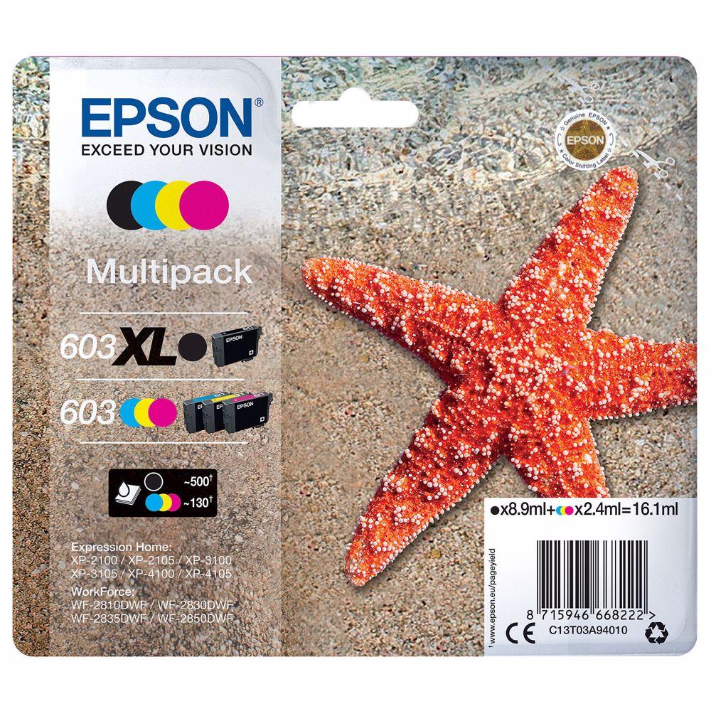 Epson cartridge 603 Multipack XL 4 Pack