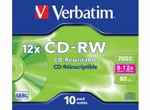Verbatim CD schijfjes CD-RW 700MB 8-12X