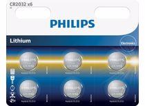 Phiips CR2032 knoopbatterijen (6 stuks)
