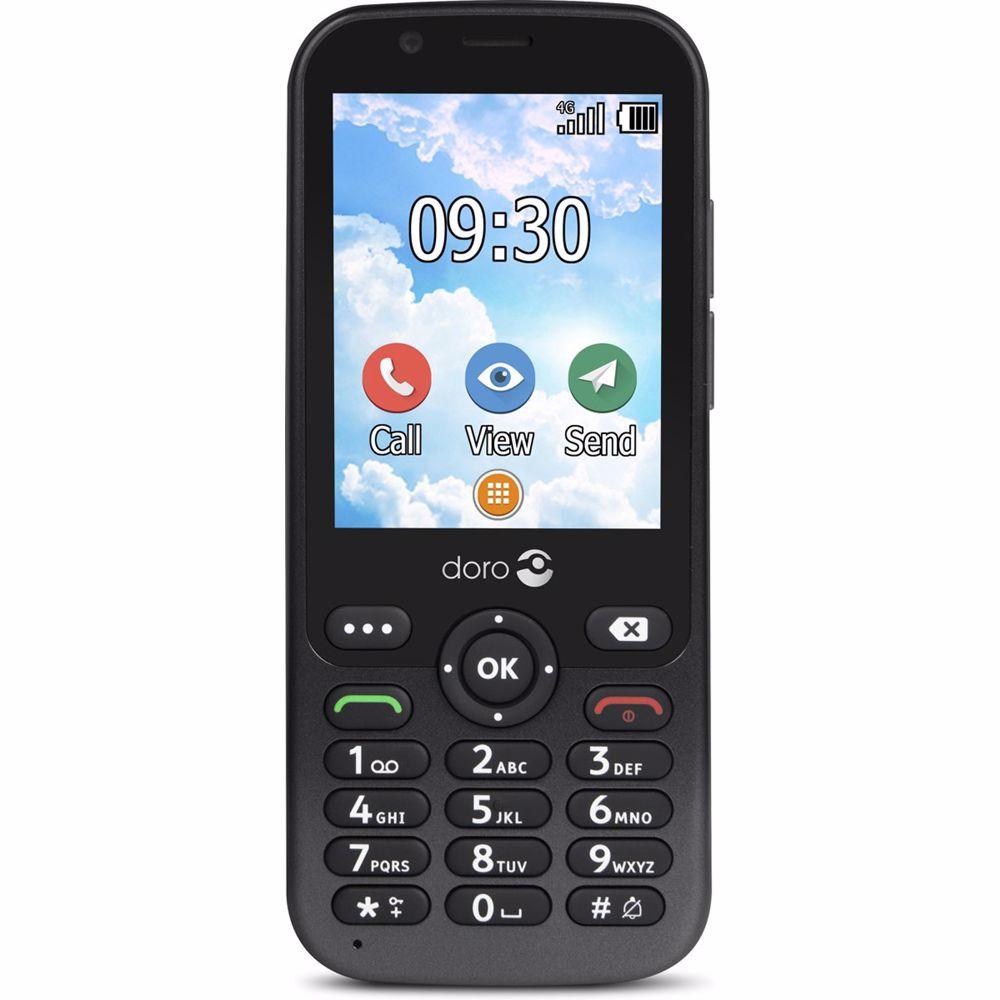 Doro senioren mobiele telefoon 7010 4G (Grijs)
