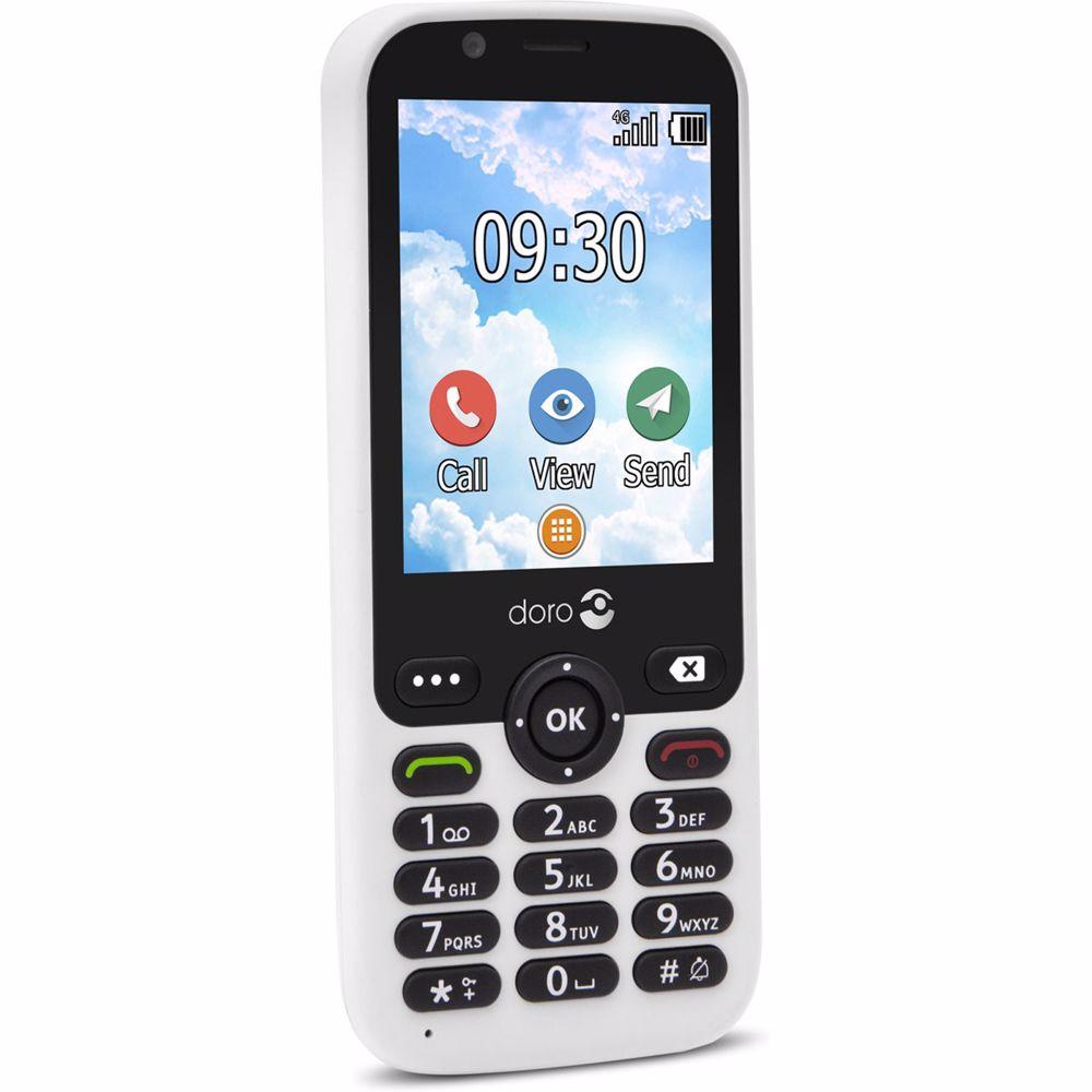 Doro senioren mobiele telefoon 7010 (Wit)