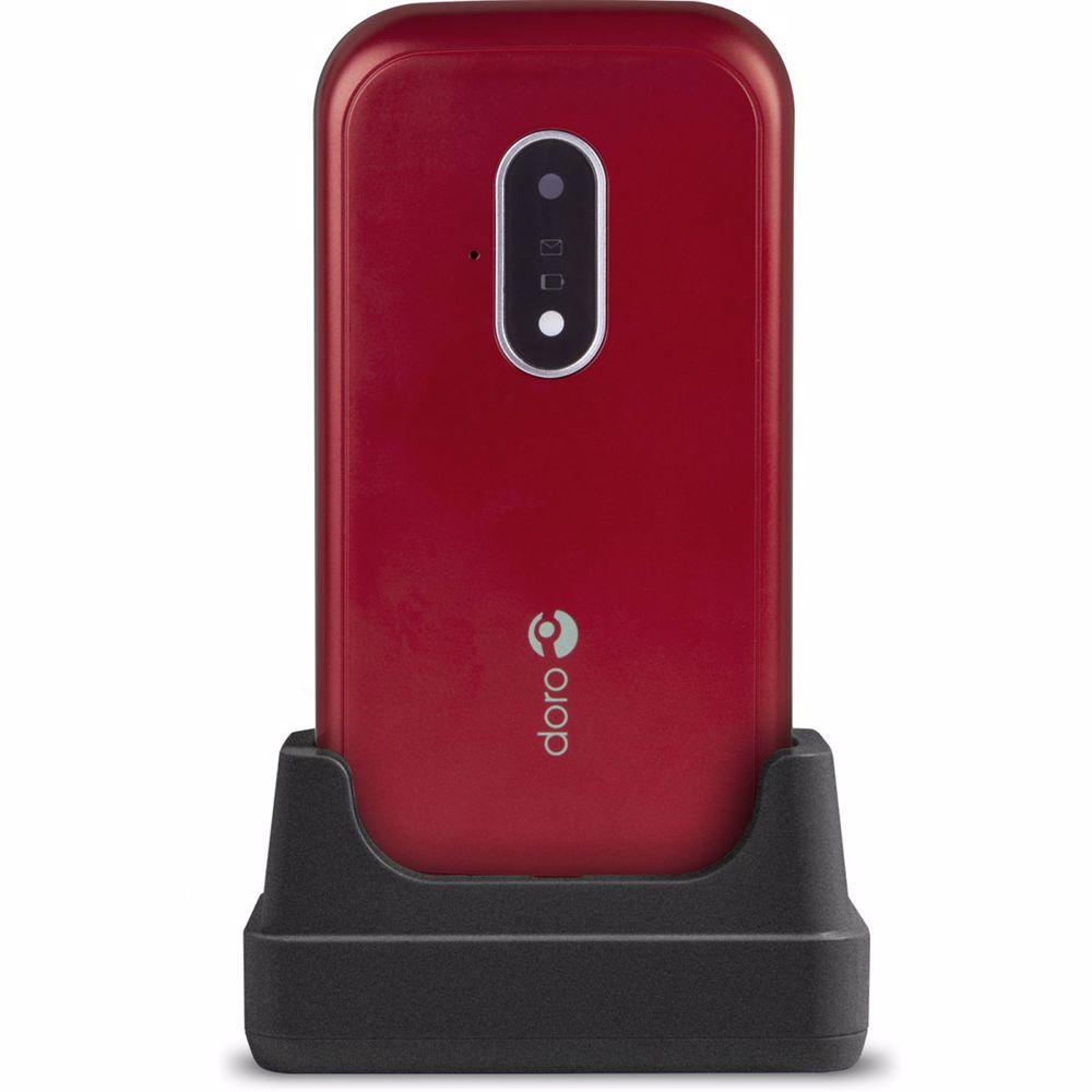 Doro senioren mobiele telefoon 7030 (Rood)