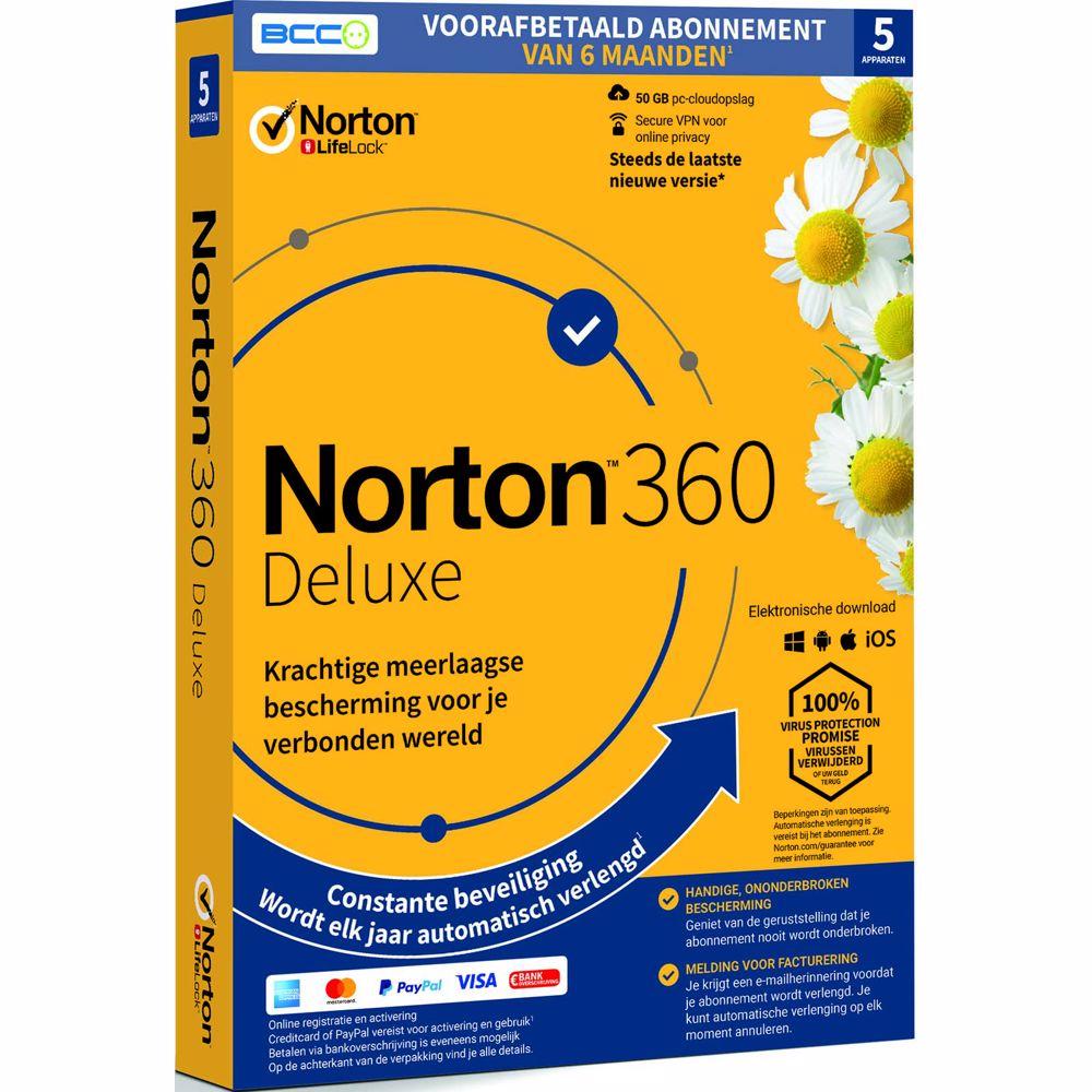 Symantec Norton 360 Deluxe anti-virus software - 6 maanden