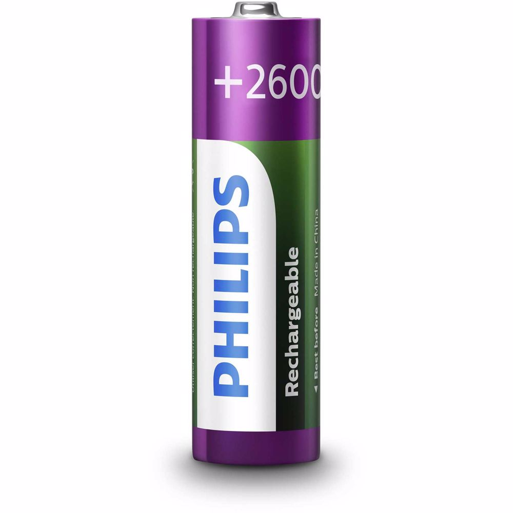 Philips oplaadbare batterij AA (2 stuks)