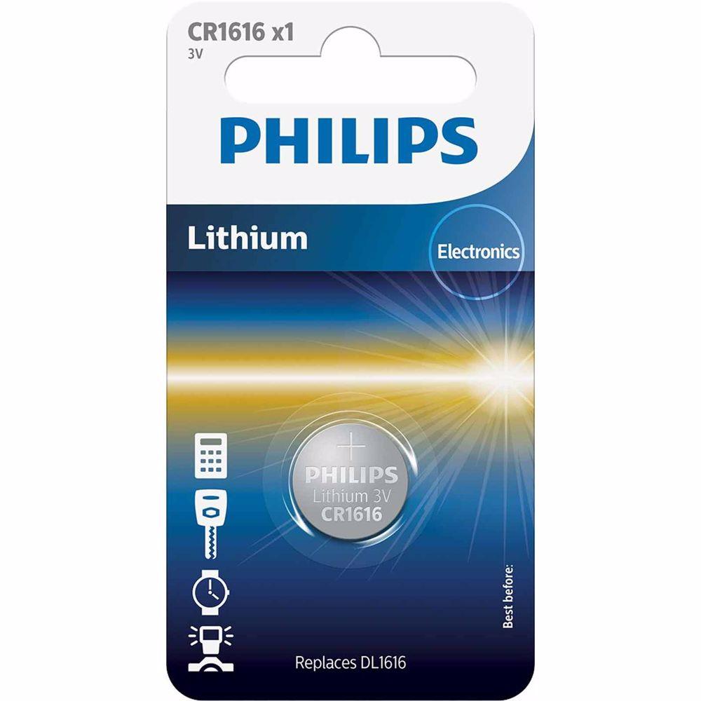 Philips knoopcelbatterij CR1616/00B (1 stuk)