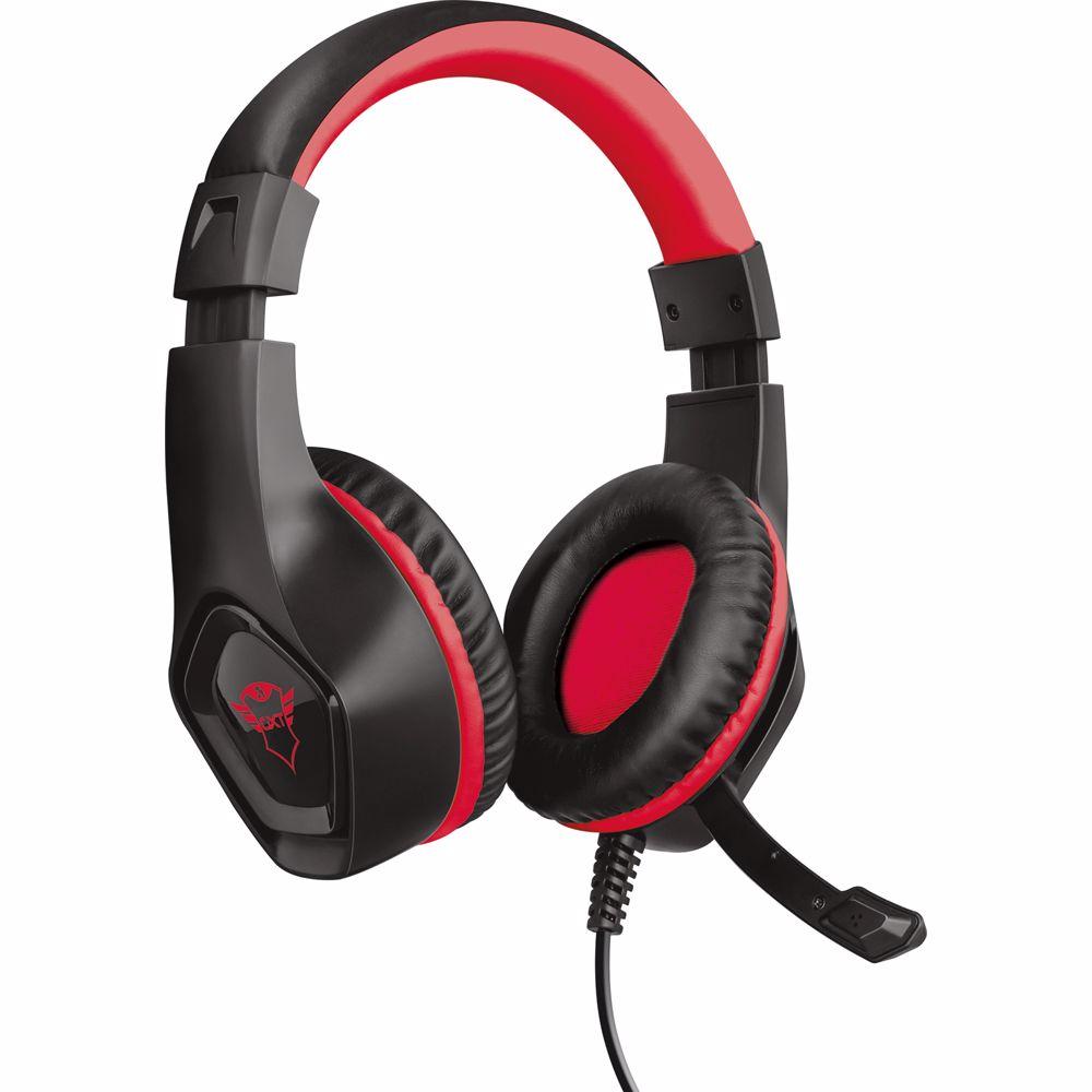 Trust GXT 404R Rana Headset Hoofdband (Zwart, Rood) Switch
