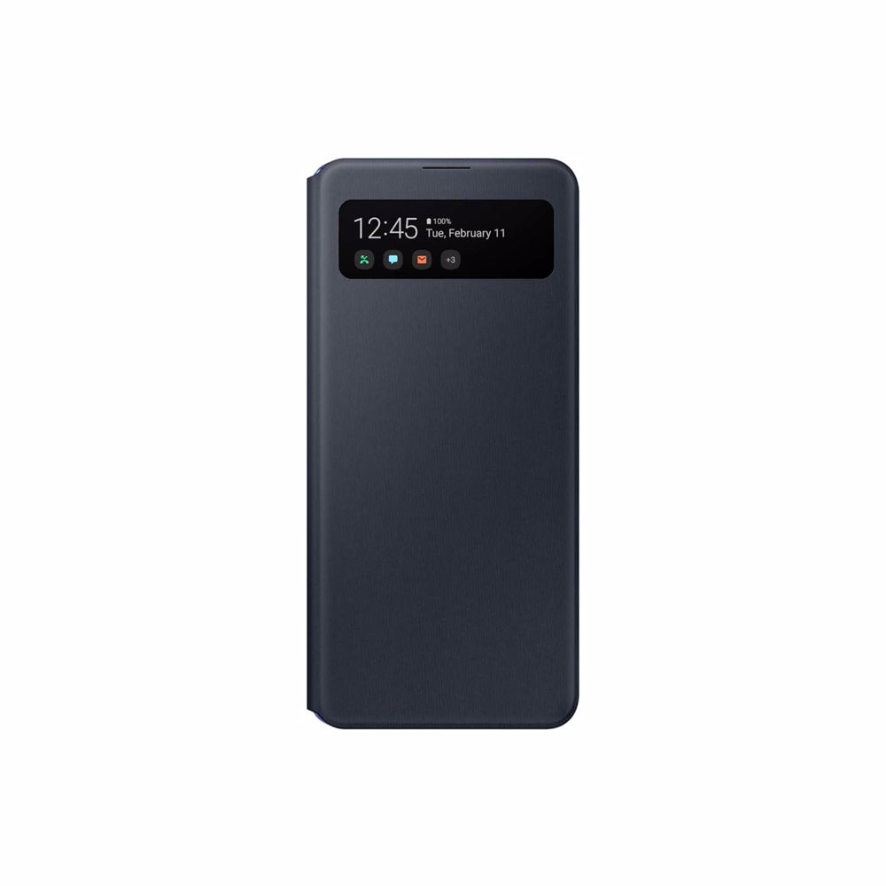 Samsung telefoonhoesje A41 Wallet Cover + View (Zwart)