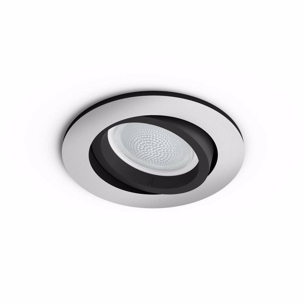 Philips Hue CENTURA INBOUWSPOT - WIT EN GEKLEURD (Aluminium)