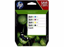 HP cartridge 364XL inkt combo 4 Pack (Zwart Cyaan Magenta Geel)