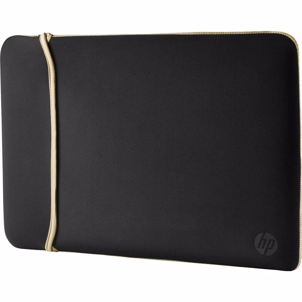 HP laptop sleeve 14 inch omkeerbaare sleeve (Zwart/Goud)
