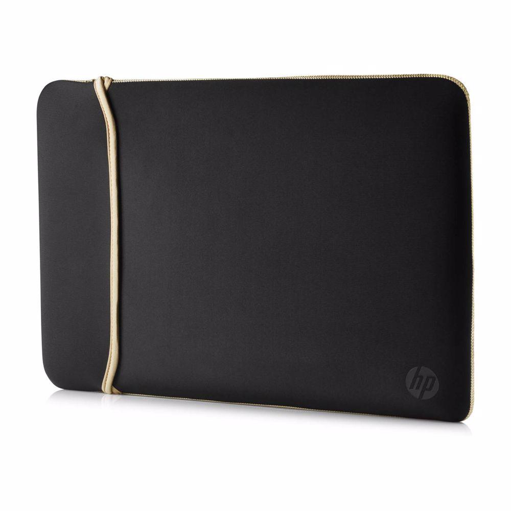 HP laptop sleeve 15.6 omkeerbaar (Zwart/Goud)