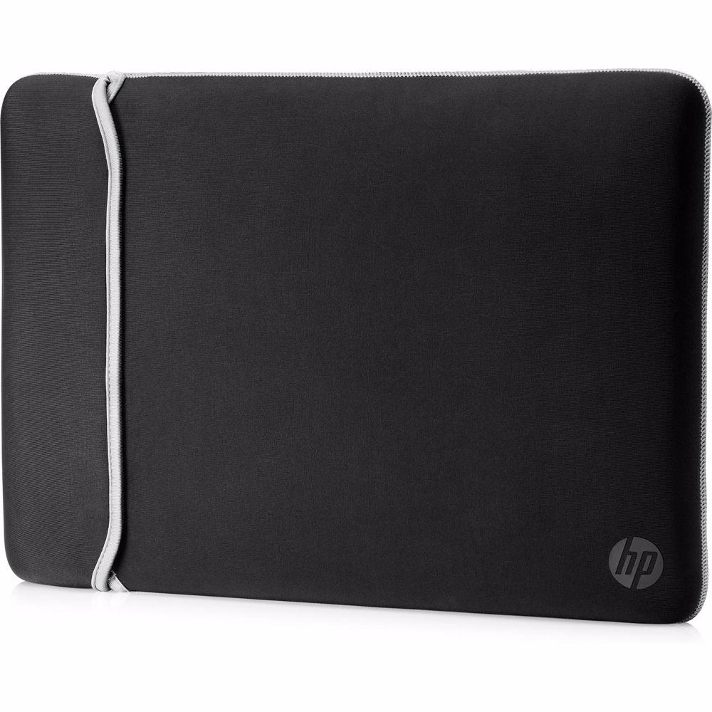 HP laptop sleeve 14 inch Reversibel Sleeve (Zwart/Zilver)