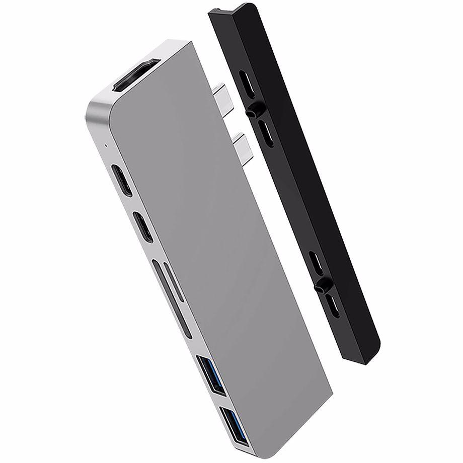 HyperDrive hub DUO 7-in-2 — USB-C Hub voor MacBook Pro / Air