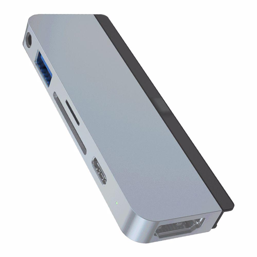 Hyper USB-C hub 6-in-1 HD 319B (Zilver)